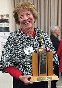 Kathy Rehe with trophy